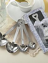 Heart Measure Spoon Set With Ribbons/Tag Beter Gifts Lavender Wedding Keepsakes