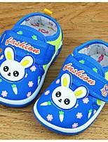 Unisex Flats Fall Comfort Cotton Casual Flat Heel Applique Blue / Pink Walking
