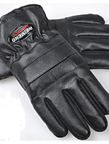 PU Men'S Leather Gloves And Fertilizer In Autumn And Winter  Men'S Leather Thickened Anti-Skid Motorcycle Gloves