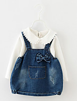 Girl's Casual/Daily Solid Dress / Blouse / Clothing SetCotton Spring / Fall White