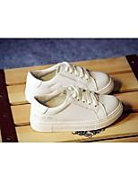 Per bambino-Sneakers-Tempo libero-Chiusa-Piatto-Di pelle-Nero / Bianco