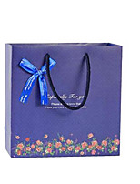 четыре темно-синий цветочный 30см * 27см * 12см подарочные пакеты в упаковке
