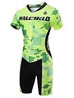 Sportif Maillot et Cuissard de Cyclisme Homme Manches courtes VéloRespirable / Séchage rapide / Zip frontal / Vestimentaire / Haute