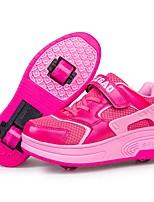 Синий / Розовый / Оранжевый-Унисекс-Для прогулок / Для занятий спортом-Кожа-На низком каблуке-Обувь на роликах-Кеды
