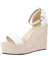 Women's Sandals PU Casual Wedge Heel Others Black / Pink / Red / White / Silver / Gray / Gold Others