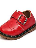 Jungen-Sneaker-Lässig-Leder-Flacher Absatz-Flache Schuhe-Schwarz / Gelb / Rot