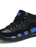 Men's Athletic Shoes Spring / Fall Comfort / Round Toe PU Athletic Flat Heel Lace-up Blue / Black and Red / Blac