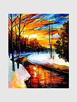 Hand-Painted Modern Street Scape PaintingsOne Panel Canvas Oil Painting