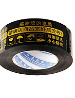 Black Background Gold Words Warning Tape