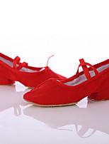 Customizable Women's Dance Shoes Satin Satin Latin / Dance Sneakers Heels Chunky Heel Indoor / Performance Black / Pink