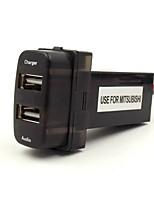 voiture 5v chargeur d'interface 2.1a USB et entrée audio usb utilisation de socket pour mitsubishi, asx, lancier, outlander, pajero