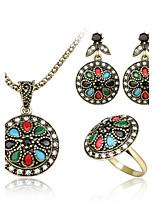 Jewelry-Set Include(Women Necklace/Earrings/Rings) Alloy fashion Retro San Jiantao
