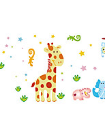 Wall Stickers Wall Decals Style Cute Deer Elephant Animal Paradise PVC Wall Stickers