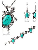 Jewelry Necklaces Earrings Bracelets & Bangles Women Fashion Turquoise Tortoise Shape Jewelry Set Christmas Gift