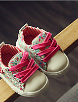 Unisex Sneakers Spring / Fall Comfort Canvas Casual Flat Heel  Green / Pink Sneaker