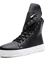Men's Boots Fashion Boots / Comfort Leatherette Casual Flat Heel Lace-up Black / White Others