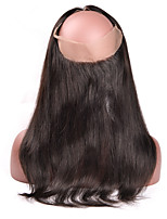 360 Lace Frontal Closure Indian Silk Straight Hair Full Lace Frontal With Baby Hair 360 Lace Frontal Virgin Hair