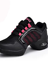 Non Customizable Women's Dance Shoes Leather Leather Dance Sneakers / Modern Sneakers Flat Heel Practice / Outdoor