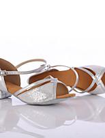Customizable Women's Dance Shoes Paillette Paillette Latin / Dance Sneakers Heels Chunky Heel Indoor / Performance