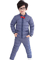 Boy's Casual/Daily Solid Clothing SetSpandex Winter / Fall Blue / Red