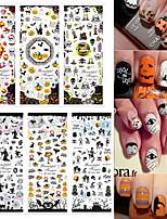 3pcs Стикер искусства ногтя Вода Передача Переводные картинки Мультипликация макияж Косметические Nail Art Design