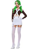 Costumes Plus de costumes Halloween Blanc / Fuschia Couleur Pleine Térylène Haut / Jupe / Plus d'accessoires
