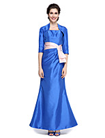 Lanting Bride® Trumpet / Mermaid Mother of the Bride Dress - Elegant Ankle-length Half Sleeve Taffeta with Bow(s)