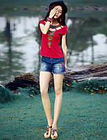 De las mujeres Pantalones Cortos-Bonito Microelástico-Algodón / Licra