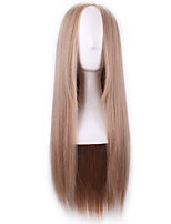 Harajuku Wig Cosplay Carve Long Blond Wig Straight Women Wigs Natural Ombre Hair Heat Resistant Synthetic