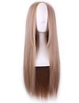 Harajuku parrucca cosplay ritagliarsi parrucca lunghi biondi donne etero parrucche ombre naturale sintetico resistente al calore capelli