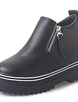 Черный / Красный / Белый-Женский-Для прогулок / На каждый день / Для занятий спортом-Резина-На плоской подошве-Удобная обувь / На плокой