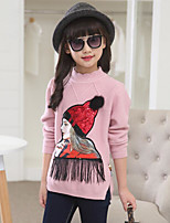 Girl's Casual/Daily Solid Sweater & CardiganCotton / Rayon Winter / Spring / Fall Blue / Pink