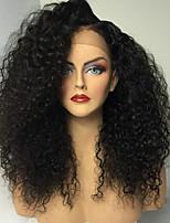 Hot Long Kinky Curly Wigs With Baby Hair Glueless Virgin Brazilian Human Hair Glueless Full Lace Wigs For Women