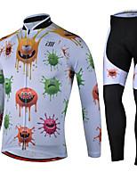 Esportivo Calça com Camisa para Ciclismo Unissexo Manga Comprida MotoRespirável / Secagem Rápida / Design Anatômico / Resistente Raios