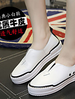 Fall Comfort Suede Casual Flat Heel Others Black / White Sneaker