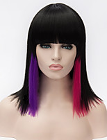 Cosplay Wigs Black Gradient Neat Bang BOBO Wig 14 Inch
