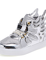 Girl's Sneakers Spring / Fall Comfort Leather Casual Flat Heel Lace-up Pink / Silver / Gold Sneaker