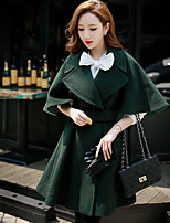 Women's Casual/Daily / Work / Party/Cocktail Vintage / Sophisticated Coat