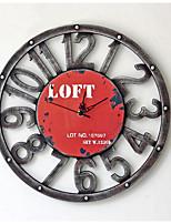 Modern/Contemporary / Casual Family Wall ClockRound Metal 40*40*5 Indoor/Outdoor / Indoor / Outdoor Clock
