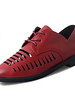 Women's Flats Spring / Summer / Fall Comfort Leatherette Outdoor / Casual Flat Heel Lace-up