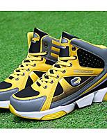 Черный / Желтый / Красный-Унисекс-Для занятий спортом-Тюль-На плоской подошве-На плокой подошве-Кеды