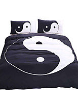 BeddingOutlet Tai Chi Bedding Set Black and White Bed Cover Yin Yang Printed Twin Full Queen King Home Textiles