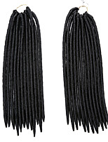 Gehäkelt Dread Locks Haarverlängerungen 12Inch Kanekalon 24 Strands (Recommended Buy 5-6 Packs Full Head) Strand 115g Gramm Haar Borten