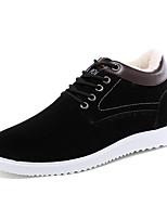 Черный / Синий / Хаки-Мужской-На каждый день-Дерматин-На плоской подошве-Удобная обувь-Кеды