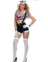 Women Sexy Navy Costume Adult Striped Sailor Cosplay Halloween Costumes for Women Sexy Uniform