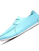 Синий / Коричневый / Белый-Мужской-На каждый день-Полиуретан-На плоской подошве-Удобная обувь-Кеды