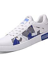 Herren-Sneaker-Lässig-PU-Flacher Absatz-Komfort-Schwarz Blau Rot