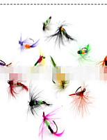 12 pcs Flies Flies Random Colors 3 g Ounce mm inch,Hard Plastic Bait Casting