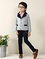 Boy's Casual/Daily Solid Clothing SetCotton Spring / Fall Gray