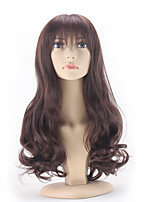 Brown Color Curly Synthetic Wigs For Afro Women